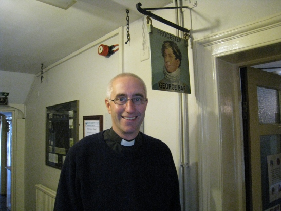 Fr Richard Barton in The George Inn in Frocester