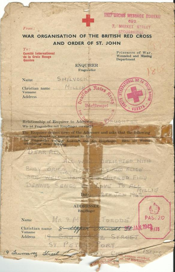 Red Cross Letters from Guernsey | btsarnia